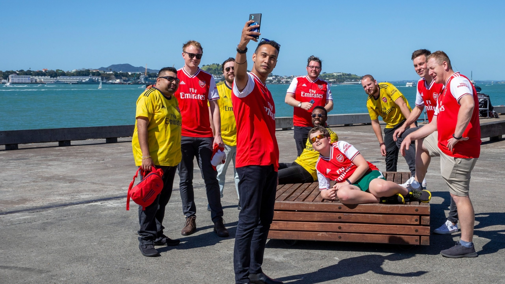 AUCKLAND, NEW ZEALAND - OCTOBER 27: Arsenal New Zealand Supporters Club on October 27, 2019 in Auckland, New Zealand. (Photo by Dave Rowland/Getty Images)