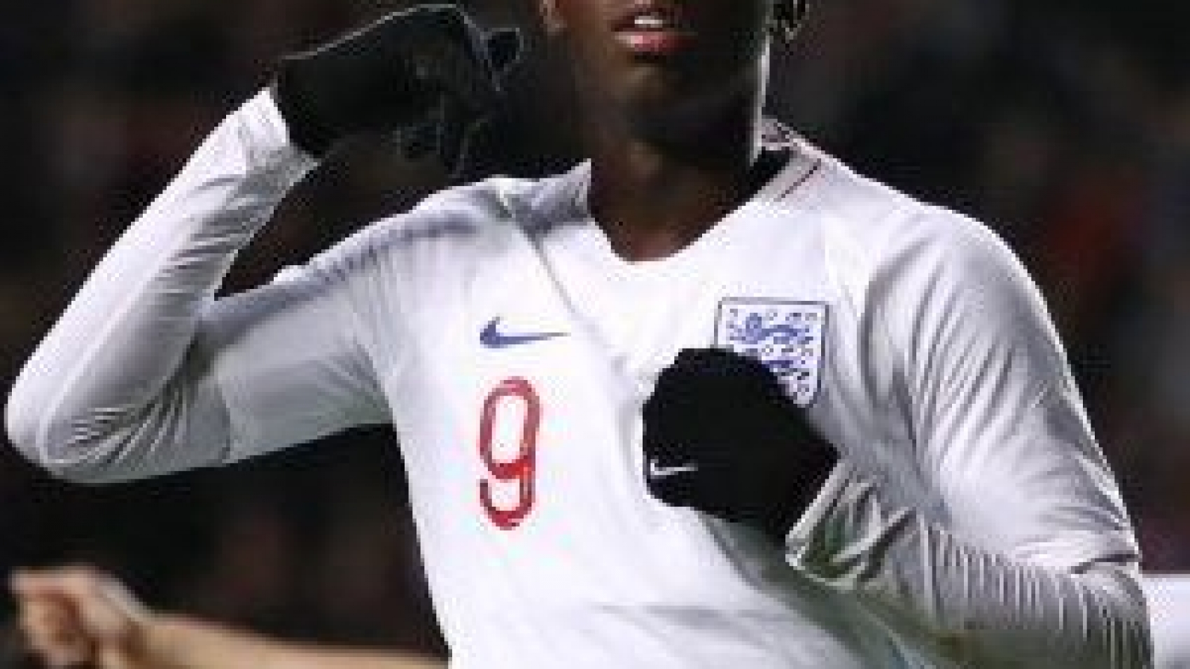 England's Eddie Nketiah celebrates scoring his side's third goal of the game during the UEFA Euro 2021 Under-21 Qualifying Group 3 match at Stadium MK, Milton Keynes. PA Photo. Picture date: Tuesday October 15, 2019. See PA story SOCCER England U21. Photo credit should read: Tim Goode/PA Wire. RESTRICTIONS: Use subject to FA restrictions. Editorial use only. Commercial use only with prior written consent of the FA. No editing except cropping